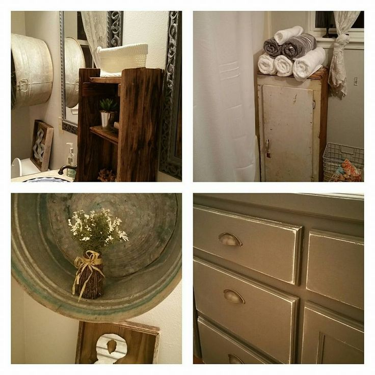 bathroom remodel using dixie belle mineral grey for cabinets the