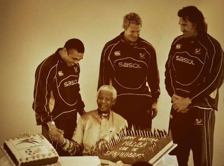 "Happy Birthday Tata! Bryan Habana tweeted: ""As a nation we salute you and keep you in our prayers! 