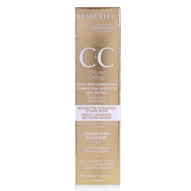 CC Crème correction complète éclat d'or FPS 35, de Marcelle—29,95$, en pharmacie.