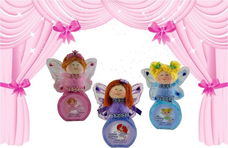 "cute ""fairy floss''honey sparkle"" & ""blueberry"" glitter bath gels"