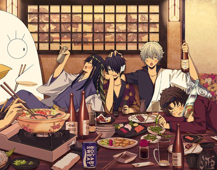 kiichi_go, Gin Tama, Takasugi Shinsuke, Ko Elizabeth, Sakata Gintoki, Sakamoto Tatsuma