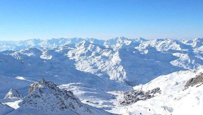 Les Menuires depuis les pistes de ski