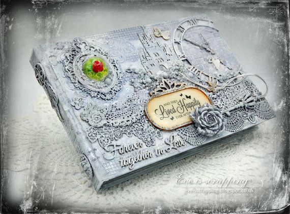 Custom Shabby Chic Wedding Guest Book with Personalised - Made to - sample wedding guest list