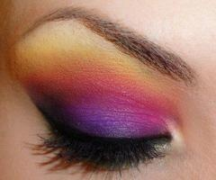 so pretty: Make Up, Eye Makeup, Eyeshadow, Color, Sunsets, Beauty, Sunset Eye, Rainbow