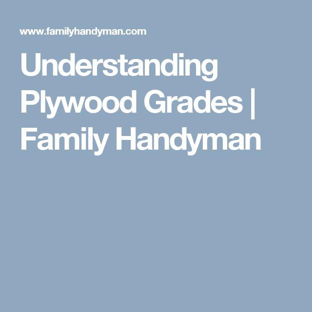 Understanding Plywood Grades   Family Handyman