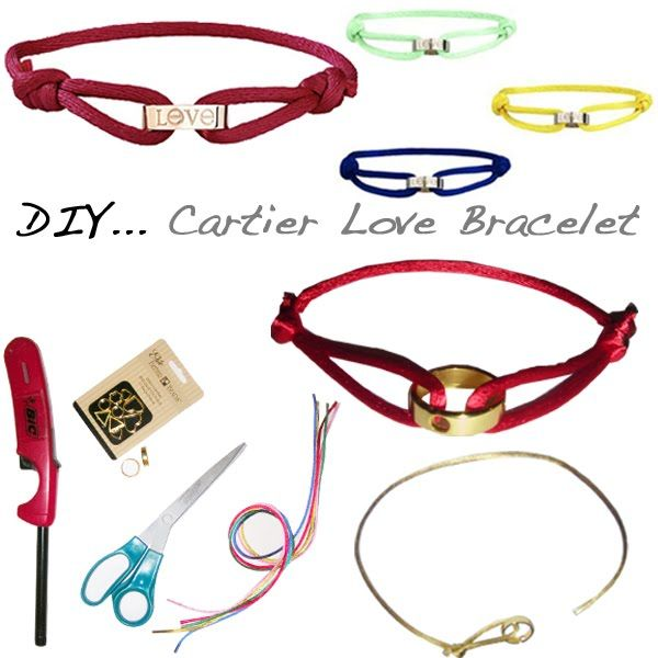 DIY: Cartier love cord inspired bracelet: Cords Bracelets, Crafts Ideas, Gifts Ideas, Gold Rings, Inspiration Bracelets, Diy Bracelets, Cartier Bracelet, Love Bracelets, Cartier Love