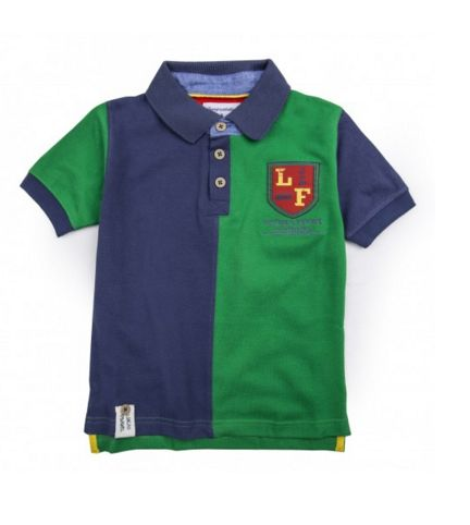 FARNE POLO SHIRT - Our new season must have - the Farne boys short-sleeved polo shirt is made from 100% cotton, featuring contrasting colour-way, chambray collar and Lucas Frank logo crest to the chest. #LucasFrankKids