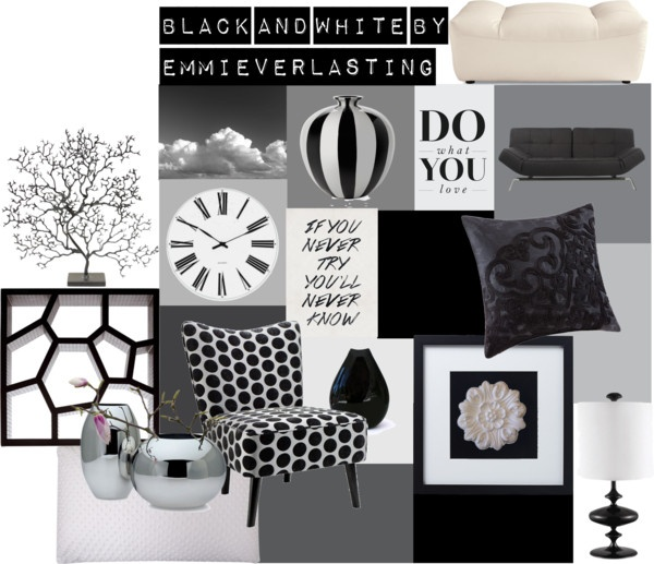 Living Rooms White And Black