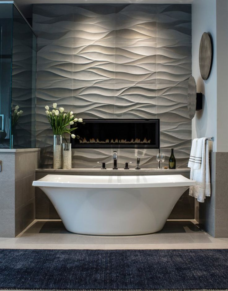 seriously crushing on this luxurious Mountain Contemporary Master Tub! Rated Top Photo on @houzz #kbtribechat