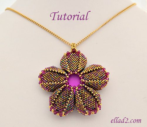 247 best pendants images on pinterest bead jewellery bead jewelry tutorial morning glory pendant beading pattern pdf aloadofball Image collections