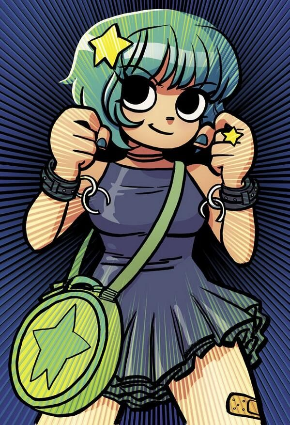 ramona flowers by bryan lee omalley love the broken chain cuffs - Scott Pilgrim Books In Color