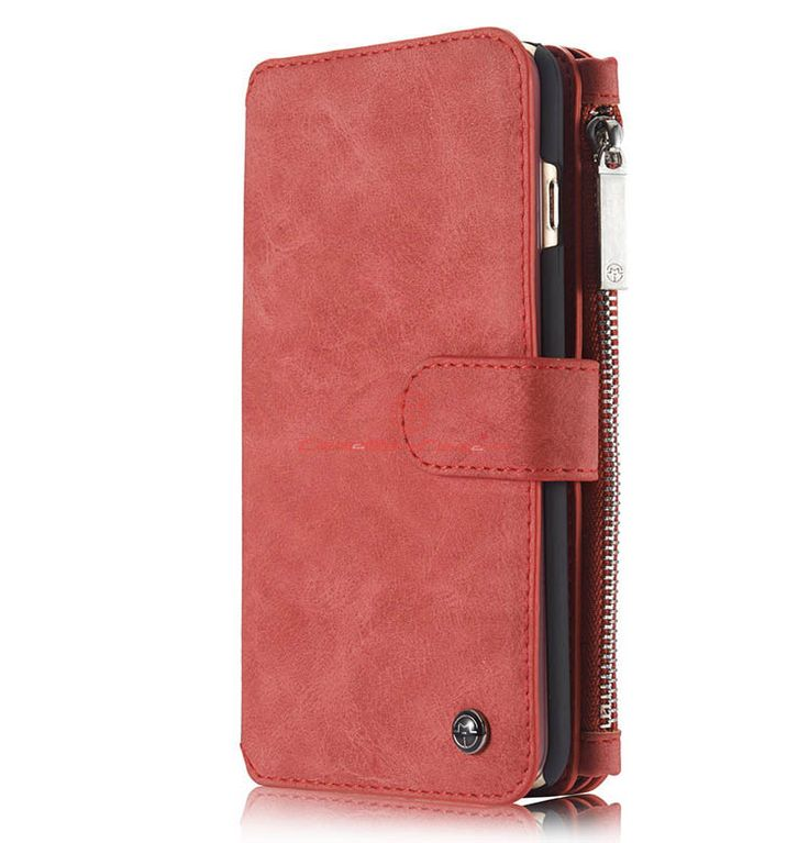 aea8492e0 CaseMe iPhone 6S Plus Zipper Wallet Detachable 2 in 1 Flip Case Red in 2019  | CaseMe iPhone Case | Leather phone case, Iphone wallet case, Card wallet