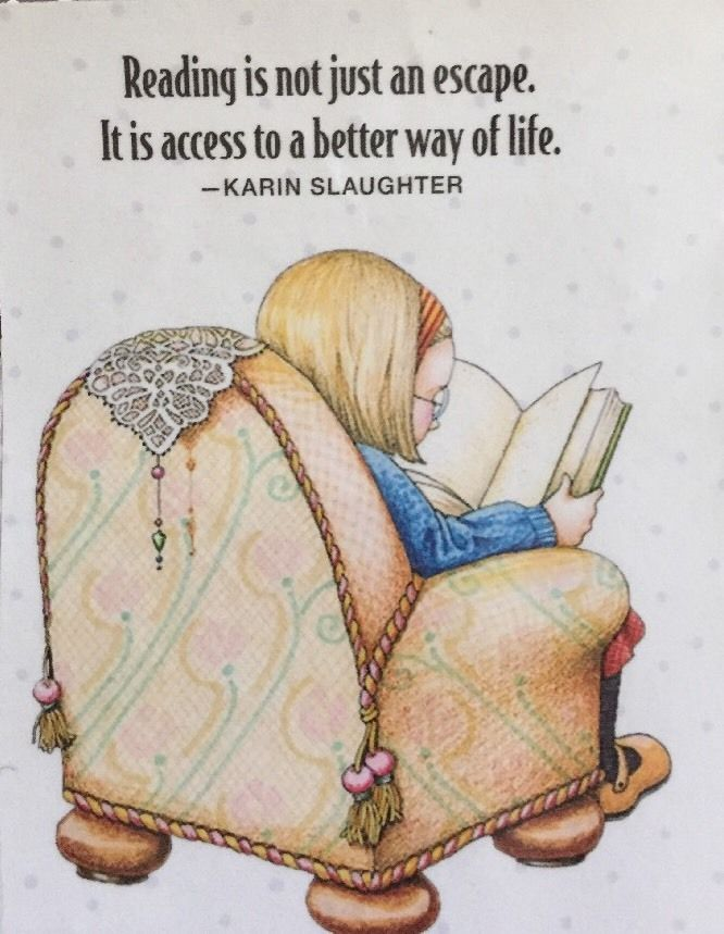Details about Reading Is Not Just An Escape-Mary Engelbreit Artwork Magnet