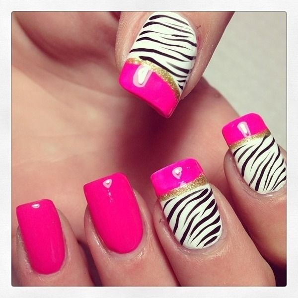 Pink zebra - love the non-patterny pattern of which nails are designed vs. regular