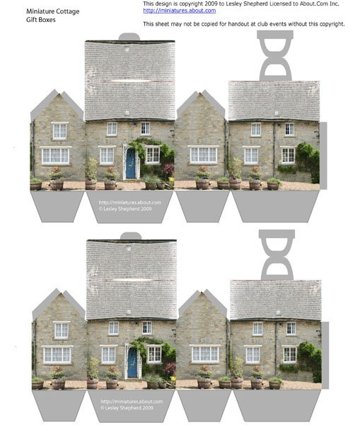 miniature doll house boxes printable - - - is this cute or what?