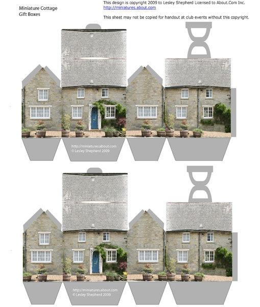 ~Leuke kleine huisjes om uit te printen-bij b.v. een verhuizing of nieuw huis cadeautje~