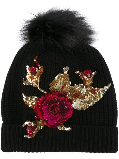 Shop Dolce & Gabbana sequinned rose embellished beanie in Julian Fashion from the world's best independent boutiques at farfetch.com. Shop 300 boutiques at one address.