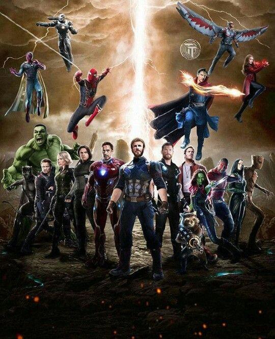 Vision, War Machine, Spider-Man, Doctor Strange, Falcon
