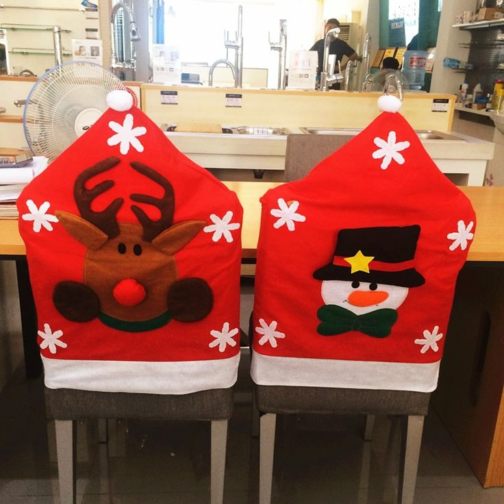 Find More Christmas Hats Information about Hot Sale! 1pc Chair Cover Semi solid Santa Clause/Snowman/Elk Red Hat Xmas Dinner Table Party Decor For New Year 2044CC,High Quality table lamp with speaker,China decorate hall table Suppliers, Cheap table decorations weddings pictures from NAAN GUO Store on Aliexpress.com