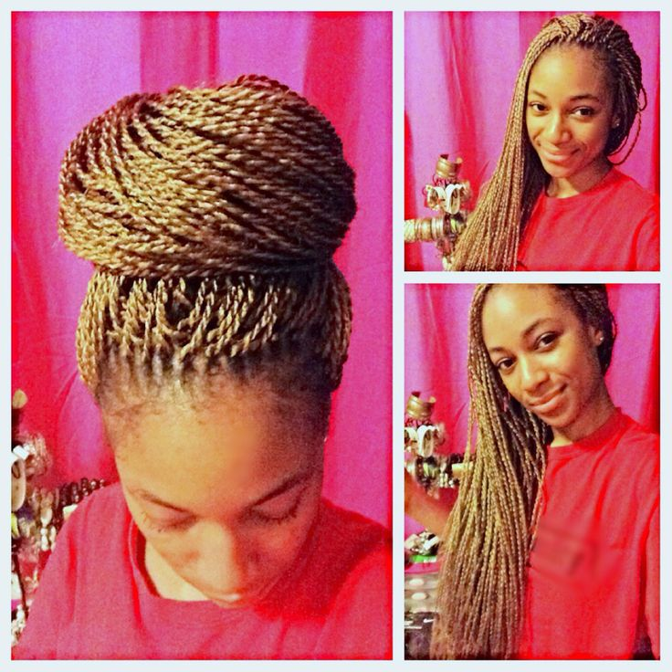 Long small Senegalese Twists with honey gold in back   crochet senegalese twists   Coils so Beautiful™