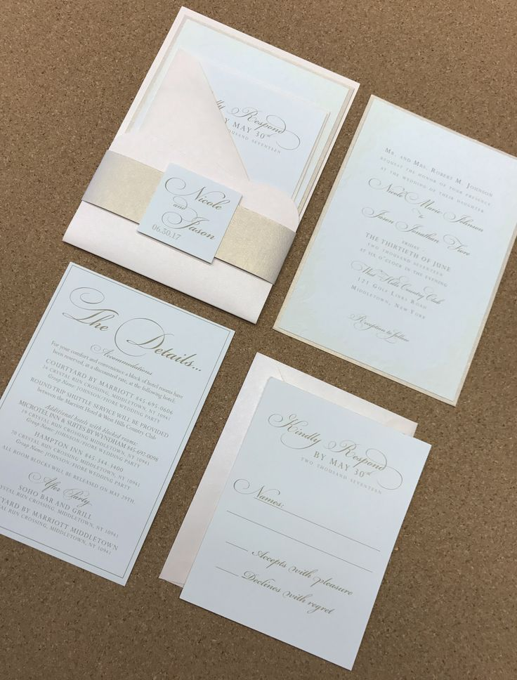 champagne blush wedding invitations%0A Wedding Invite  Card Holder  Blush  Champagne  Ivory  Blind Embossing   Elegant