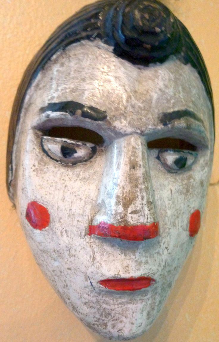 La Patrona mask. Español.Dance mask from the Western Highlands of Guatemala