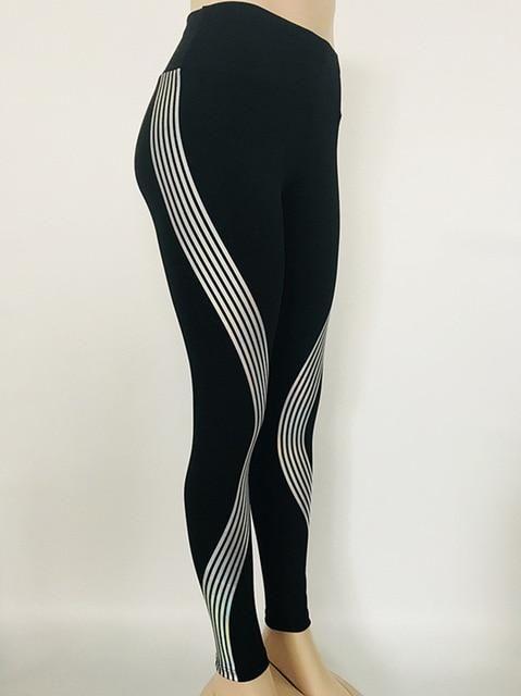 2bec165a84 Reflective Leggings Glow in the Dark Night Light Stripes Laser Fitness –  IDRAZ