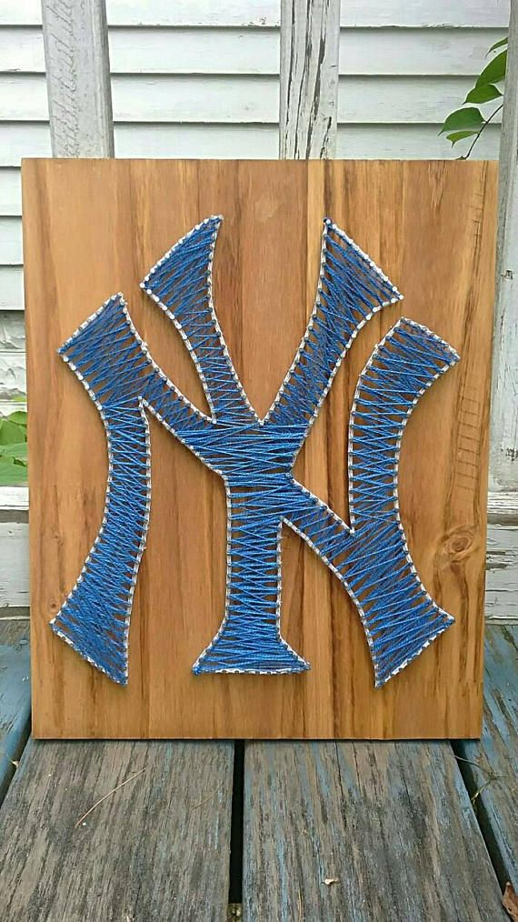 NY Yankees nail string art sign