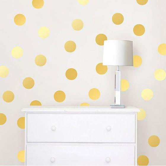 Muurstickers goud noppen babykamer en woonkamer Wall Pops