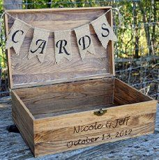 21. Rustic Wedding Reception Sign This is a simple, cost-effective and super creative idea that will help you create an effortless rustic wedding reception sign. All you need is a piece of wood and some fresh paint – let your imagination and your creativity take it from there! Project Source – pinterest 22. Burlap Chair …