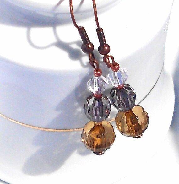 Earthy Tone Earring, Beaded  Vintage Earrings, secret Santa Gift Idea For Woman #holidaymode #Etsymnt