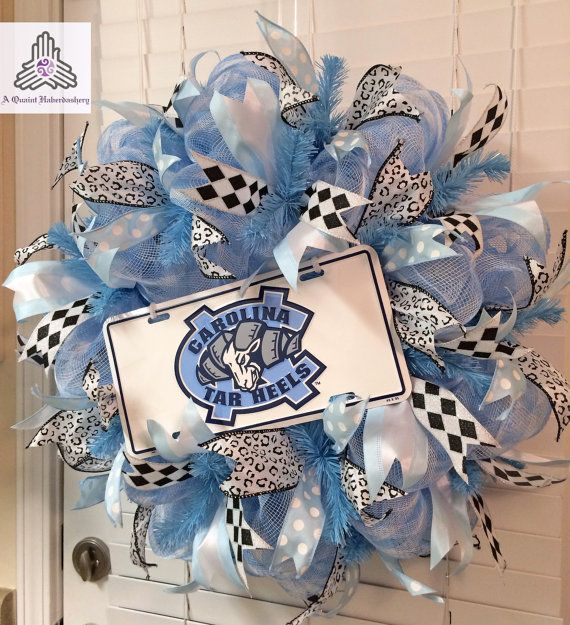 UNC University of North Carolina Tarheels by AQuaintHaberdashery