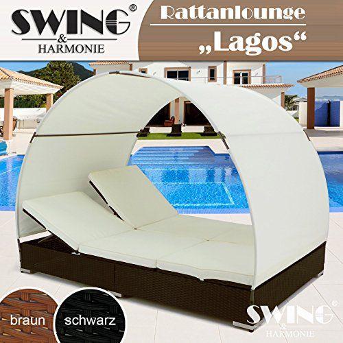 Rattan Double Sun LoungerΒ-ΒLagos Brown  Price Β£250