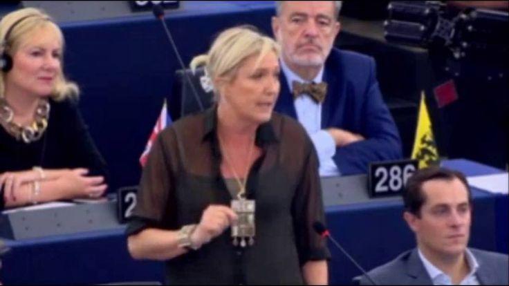 Marine Le Pen sur le discours de « L' état de l'Union »  de J-C. Juncker