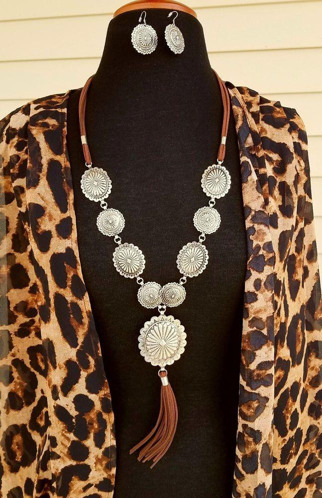 Cowgirl BLING silver tone Tone CONCHO NECKLACE set Southwestern Gypsy Western | Jewelry & Watches, Fashion Jewelry, Jewelry Sets | eBay!