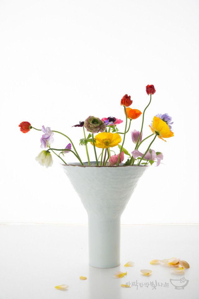 도자기 꽃병