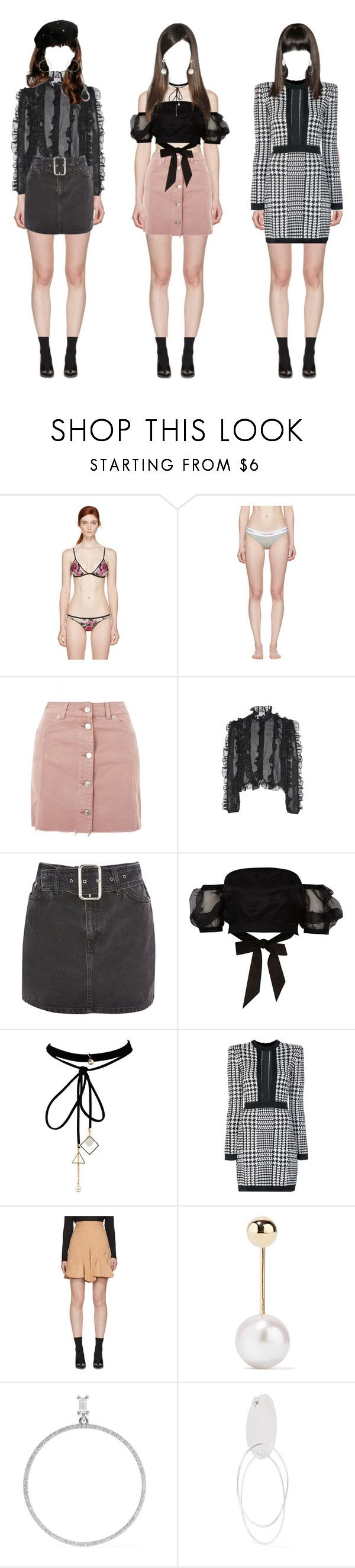 """HIROSE - Last Love MV Outfits"" by official-gold ❤ liked on Polyvore featuring Fleur du Mal, Calvin Klein Underwear, Topshop, Giamba, River Island, WithChic, Balmain, Isabel Marant, Sophie Bille Brahe and Ileana Makri"