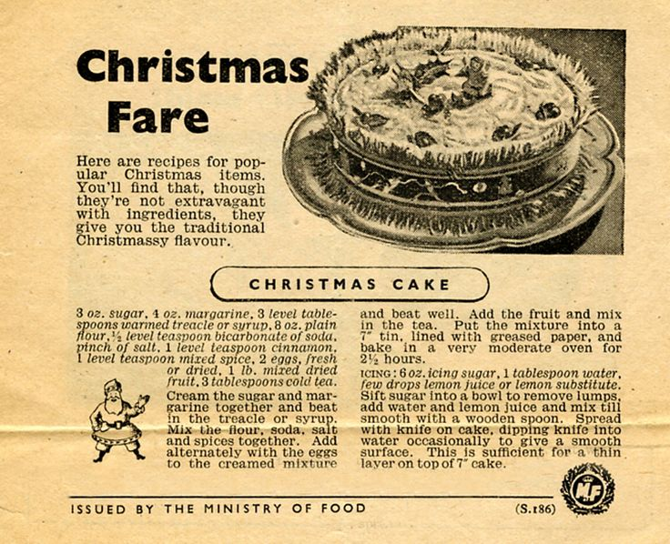 175 best ww ii homefront images on pinterest vintage recipes christmas cake recipe ministry of food forumfinder Choice Image