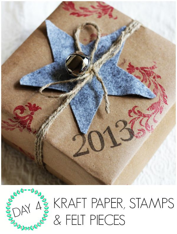 Wrap it Up #7: Kraft paper and stamp gift wrap - C.R.A.F.T.