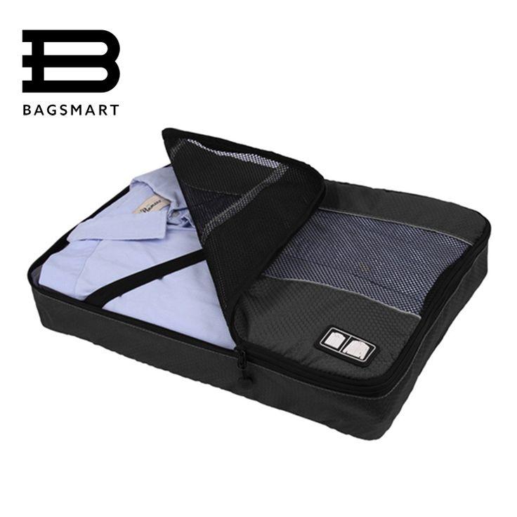 BAGSMART Durable hombres de Nylon Ligero de Equipaje Bolsas de Viaje Para La Camisa de Embalaje Organizador Ropa Cubo de Embalaje de Equipaje Maleta
