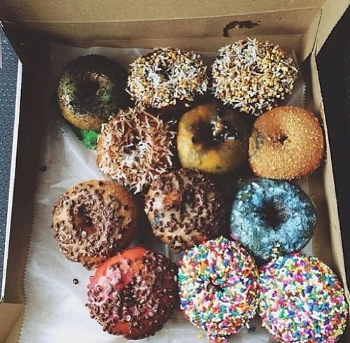 I love frosted donuts