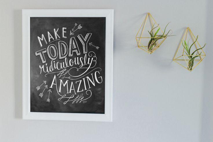 Kinsley room - Make Today Amazing - Print