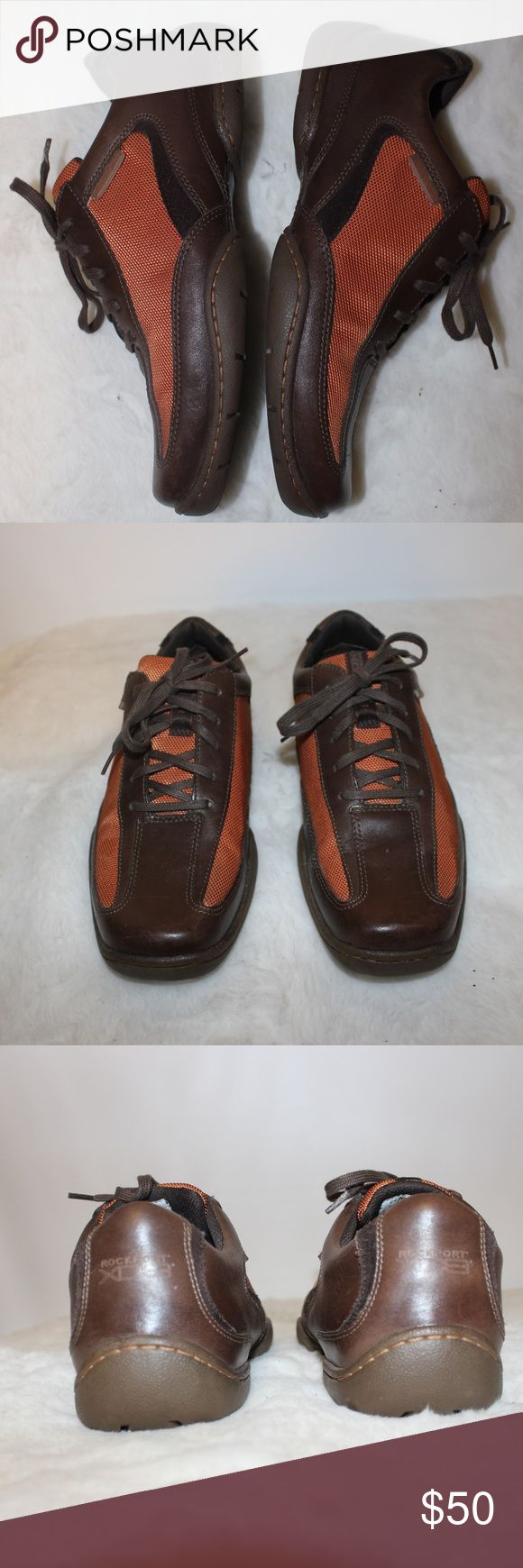 Rockport Shoes Gently worn and still in GREAT shape. They are orange and Brown. Make an offer or BUNDLE for BIG SAVINGS! Rockport Shoes