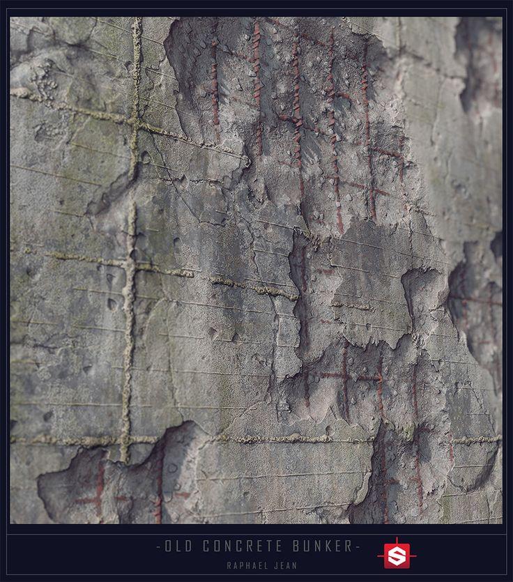 ArtStation - Old Concrete bunker - Substance designer, Raphael Jean