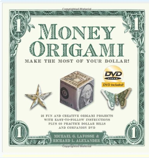 Cash Money Graduation Gift Ideas:  Money Origami Paperback Book @ Amazon