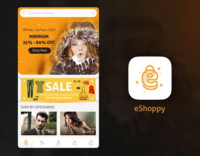 """Check out new work on my @Behance portfolio: """"eCommerce App Home Screen + Logo design by Intuz"""" http://be.net/gallery/43338731/eCommerce-App-Home-Screen-Logo-design-by-Intuz"""