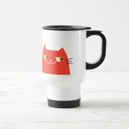 Cat Red Hot Devil Funny Good Person Cartoon Cool Travel Mug - good gifts special unique customize style