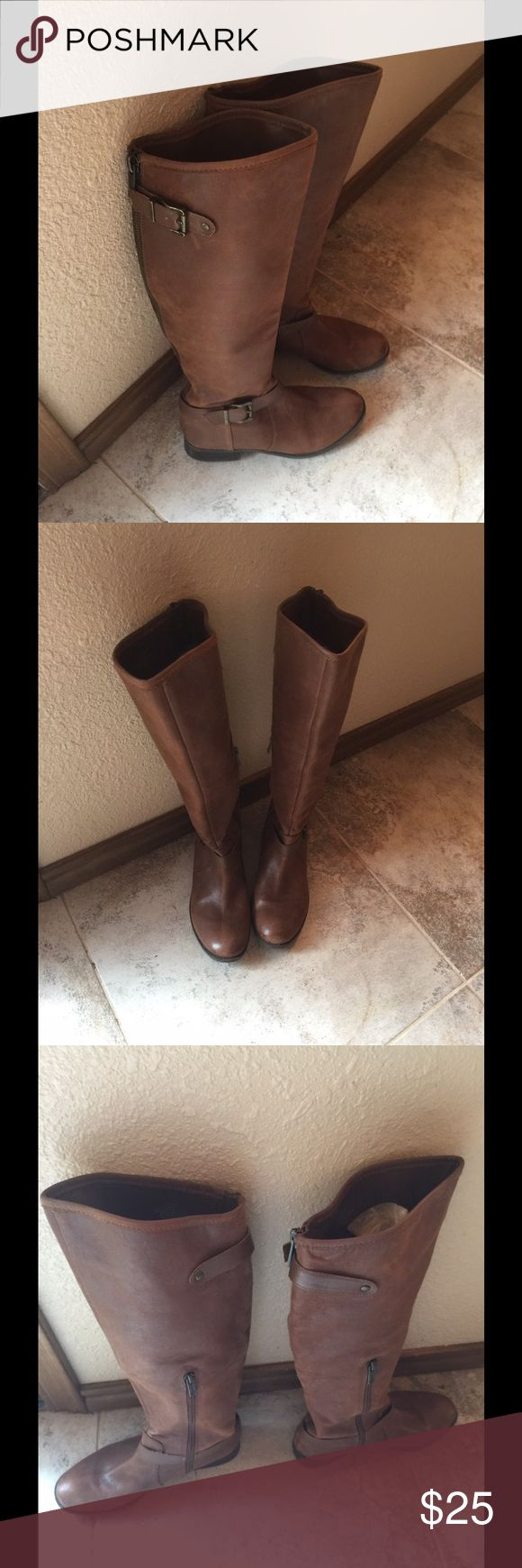 Jessica Simpson leather boots size 7.5 EUC Cute Jessica Simpson leather boots size 7.5 Jessica Simpson Shoes Heeled Boots