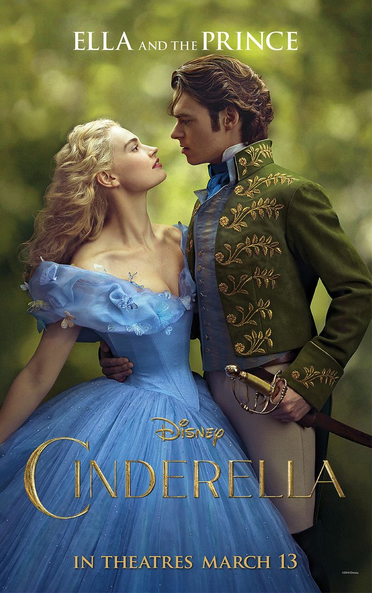 Cinderella Movie Poster With Lily James and Richard Madden