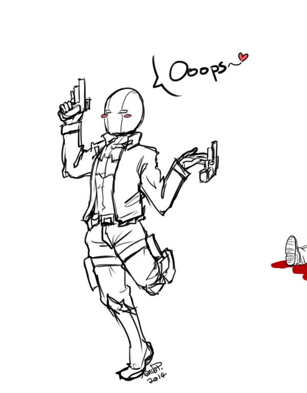 -Goodness gracious, he fell onto my bullets-